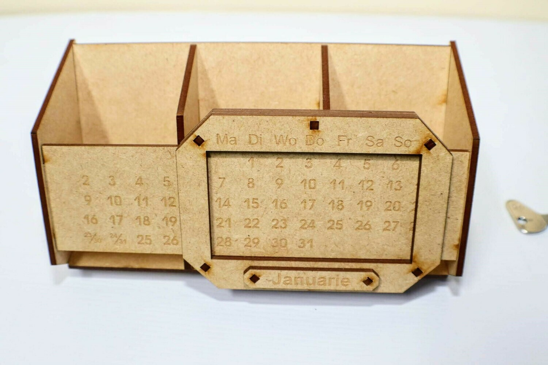 Laser Cut Wooden Calendar and Item Holder
