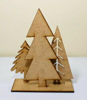 Laser Cut Wooden Trees