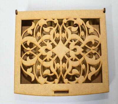 Laser-cut Art Wooden Box