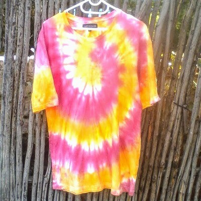 Blue, Yellow and Green Tie-dye T-shirt