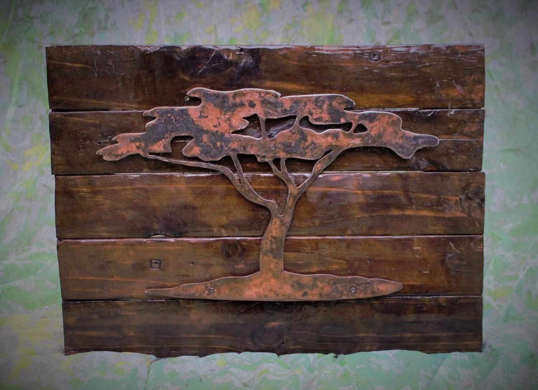 Metalwork Copper Kalahari Tree Wall Art
