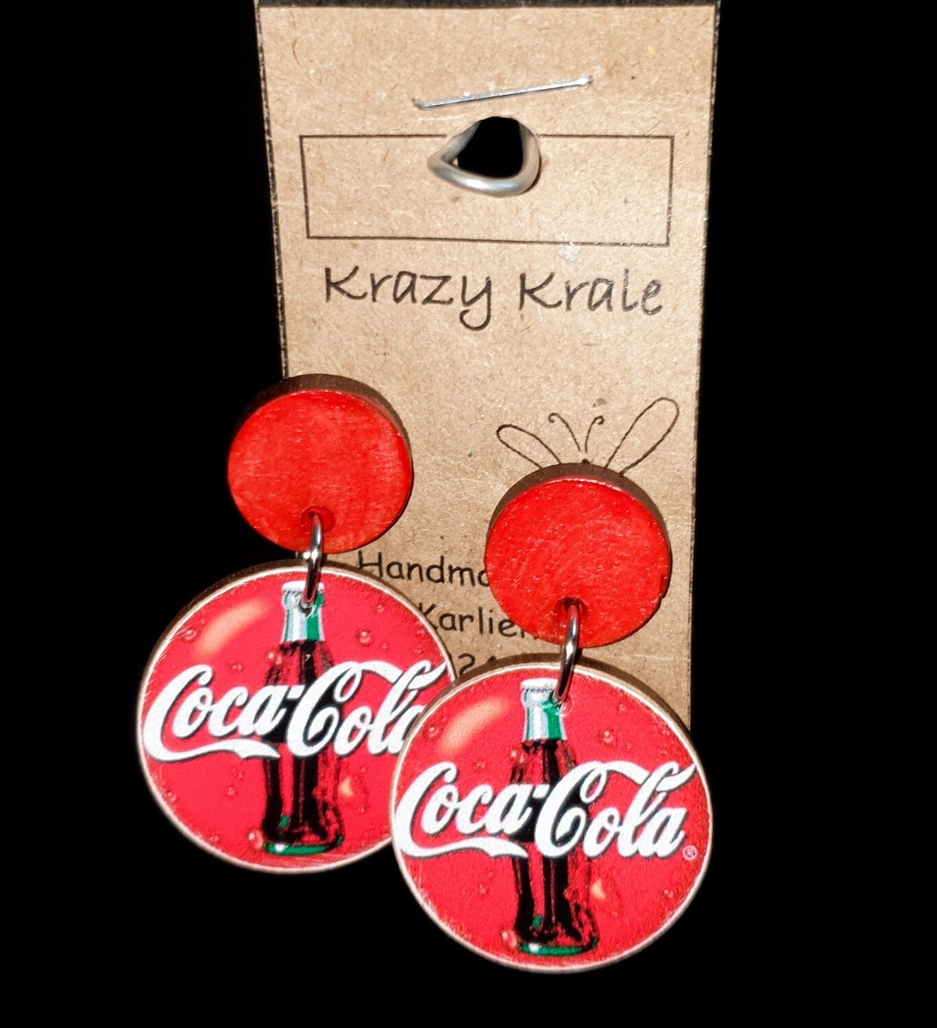 Picture earrings : coca cola