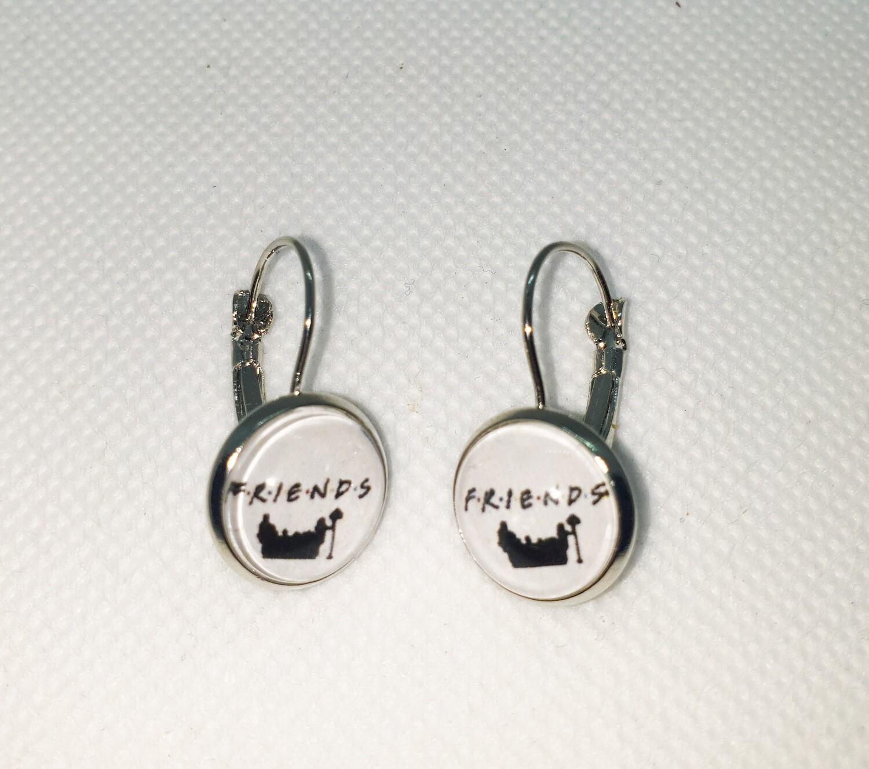 Dome drop earrings: Friends