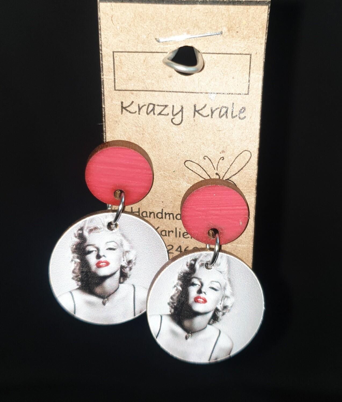 Picture earrings : Marilyn Monroe