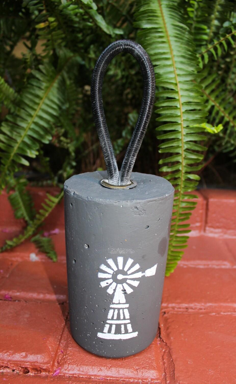 Deurstop met windpomp (rond)