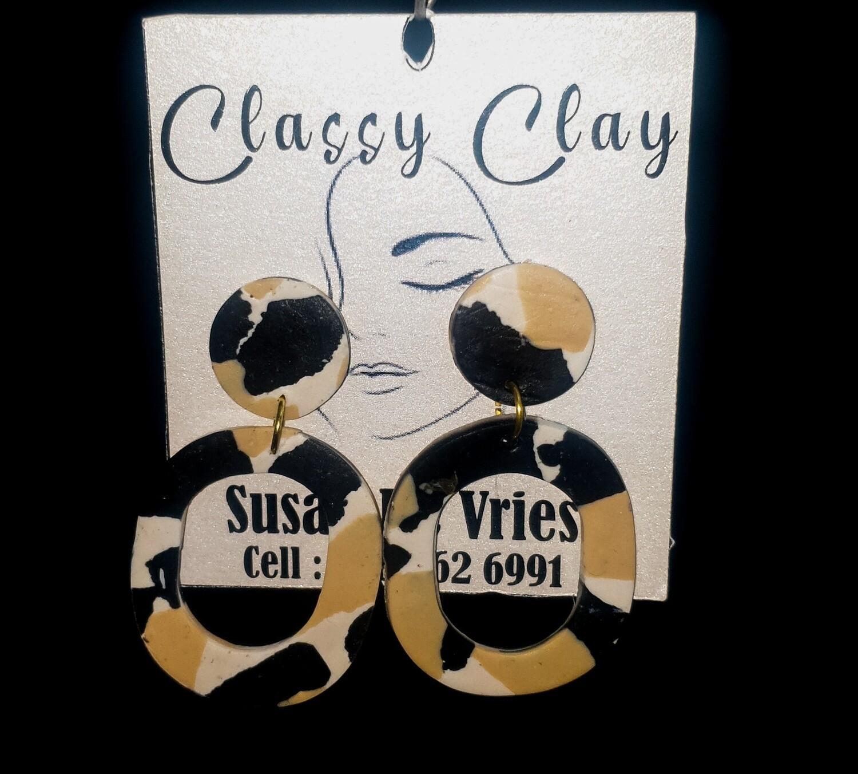 Africa print earrings