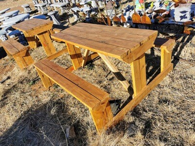 4 Seater Wooden Picnic Bench