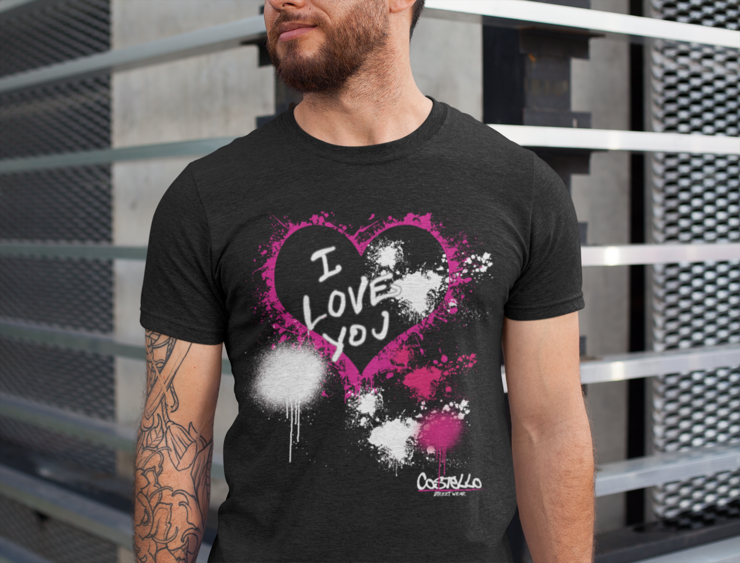I LV You Tee - Men's / unisex  classic fit recycled t-shirt
