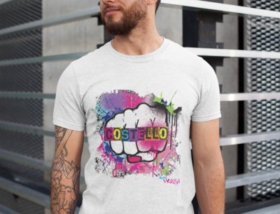 Costello Knuckle Duster Tee - Men's / unisex  classic fit recycled t-shirt White