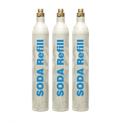 60l CO2 Refill - 3 Cylinders, Sodastream, Aarke, Sprudelux