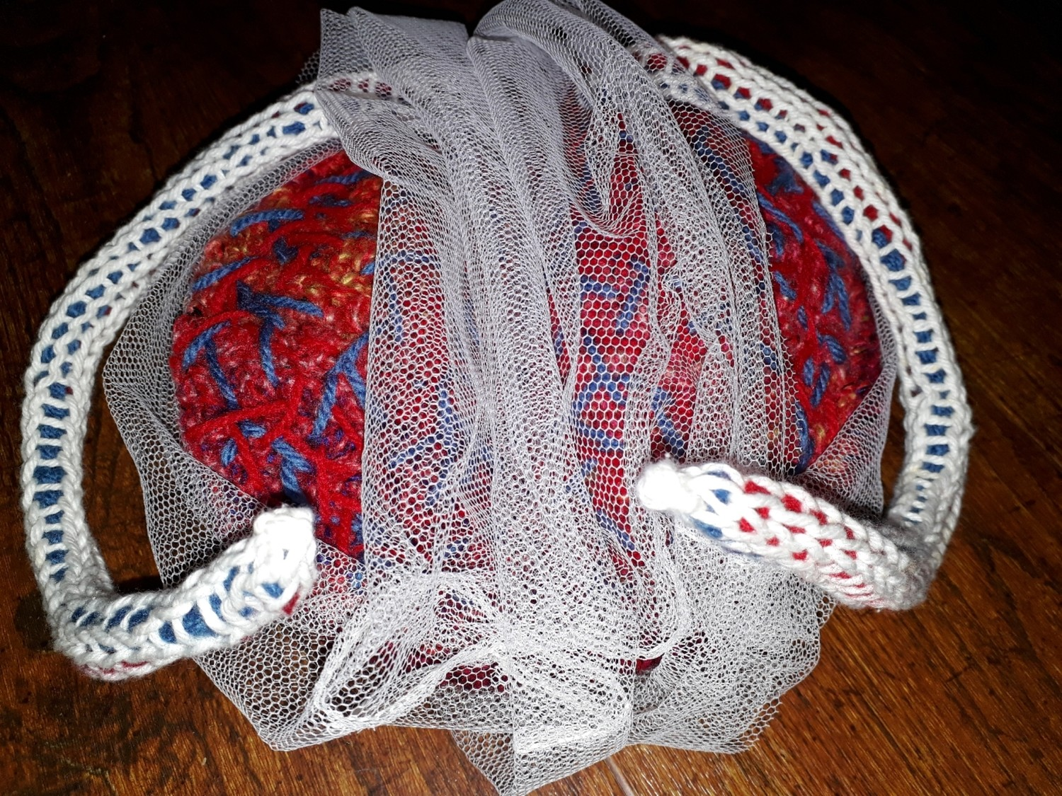 Crochet Twin Placenta Model for Childbirth Education