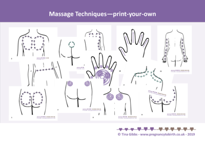 Massage Techniques cards - print-your-own pdf