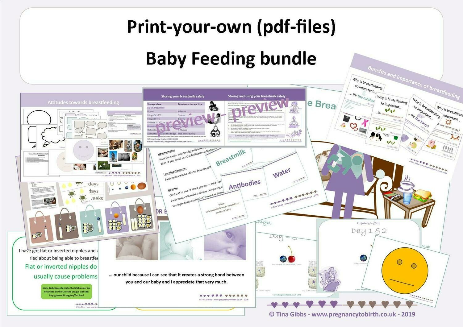 Baby Feeding Bundle (zip file containing pdf files)