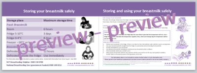 Storing Breastmilk - Handout
