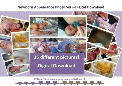 Newborn Appearance photo set - pdf print your own. A6 - postcard