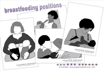Breastfeeding Positions - print-your-own card set