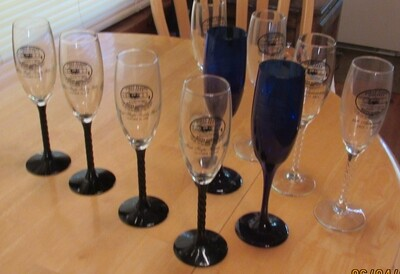 First Flight Society Champagne Glasses - Blue