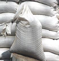 "10-pack polypropylene sandbags, empty, 14""x26"" - four colors, $0.75 each"