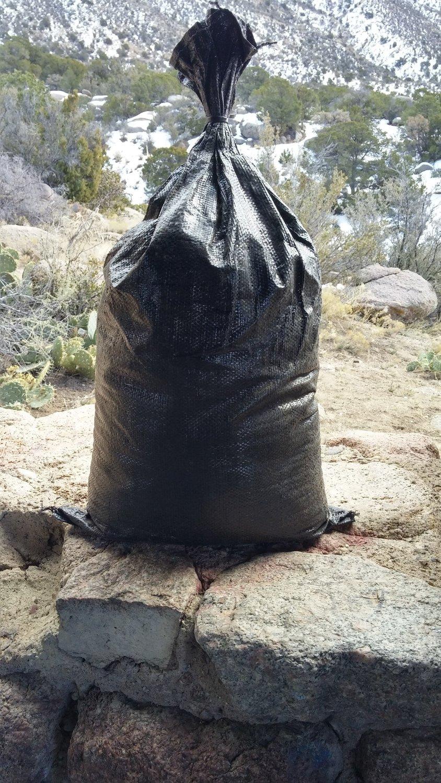 "50-pack 4-year HD polypropylene sandbags, empty, 14.5""x26"" @ $1.50 each"