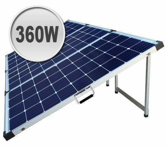360W Foldable solar panel kit for camping