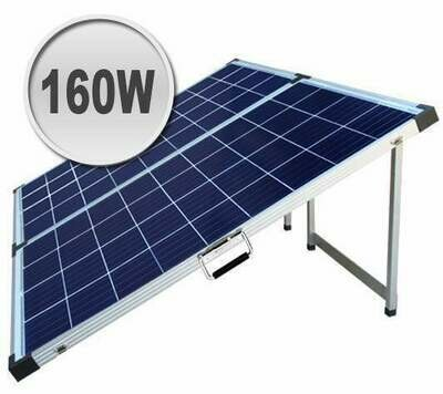 160W Foldable solar panel kit for camping