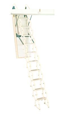 Rainbow Prestige Telescoping Attic Stair - White M2236