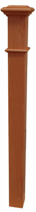 "Box Newel 3-1/2"" Beaded - Sapele Mahogany"