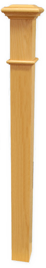 "Box Newel 3-1/2"" Beaded - Maple"
