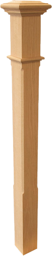 "Box Newel 3-1/2"" Chamfered - Poplar"