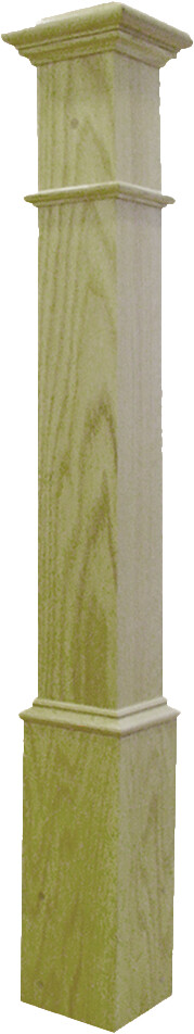 "Box Newel 4-1/2"" Beaded - Poplar"