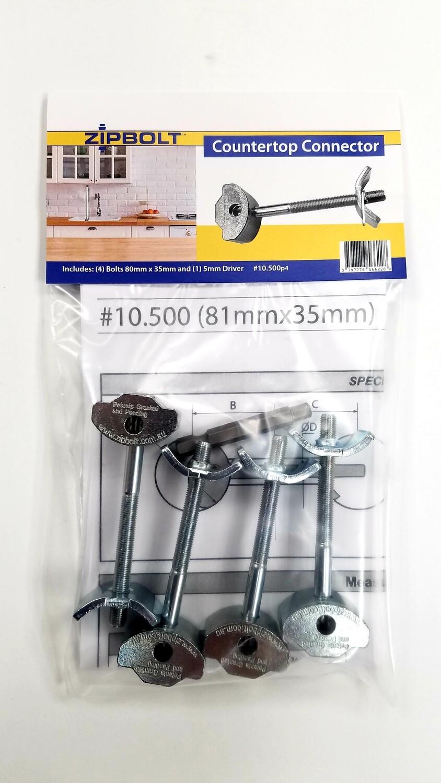 Zipbolt UT 80mm x 35mm (10.500) 4 Pack