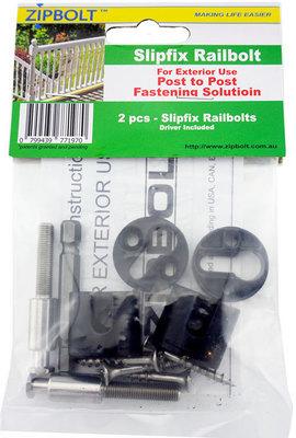 Zipbolt Exterior Slipfix Railbolt (17.150) 2 Pack