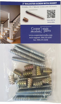 Baluster Screws / Inserts 10 Pack