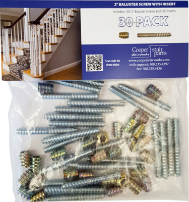 Baluster Screws / Inserts 30 Pack