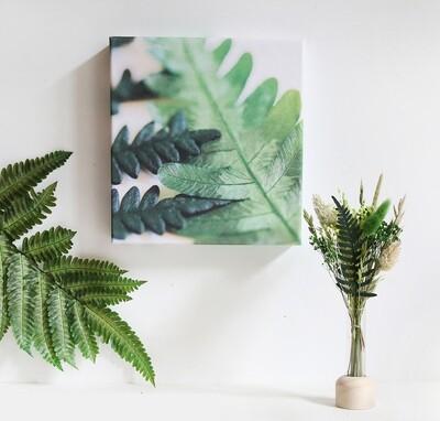 Box cadeau originale fleurs séchées, packaging réutilisable, toile fougères