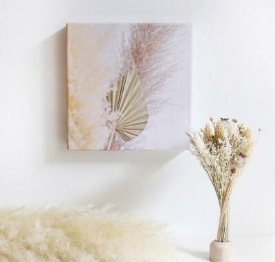 Box cadeau originale fleurs séchées, packaging réutilisable, toile pampas