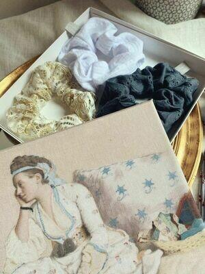 Box cadeau originale mode, packaging réutilisable, toile bohème chic