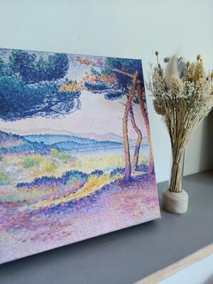 Box cadeau originale thé bio, packaging réutilisable, toile Provence