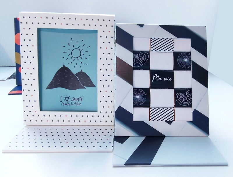 Chocolat personnalisé, packaging original réutilisable, cadre photo