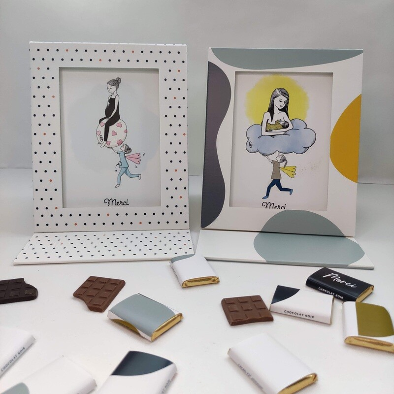 Chocolats et cadre photo