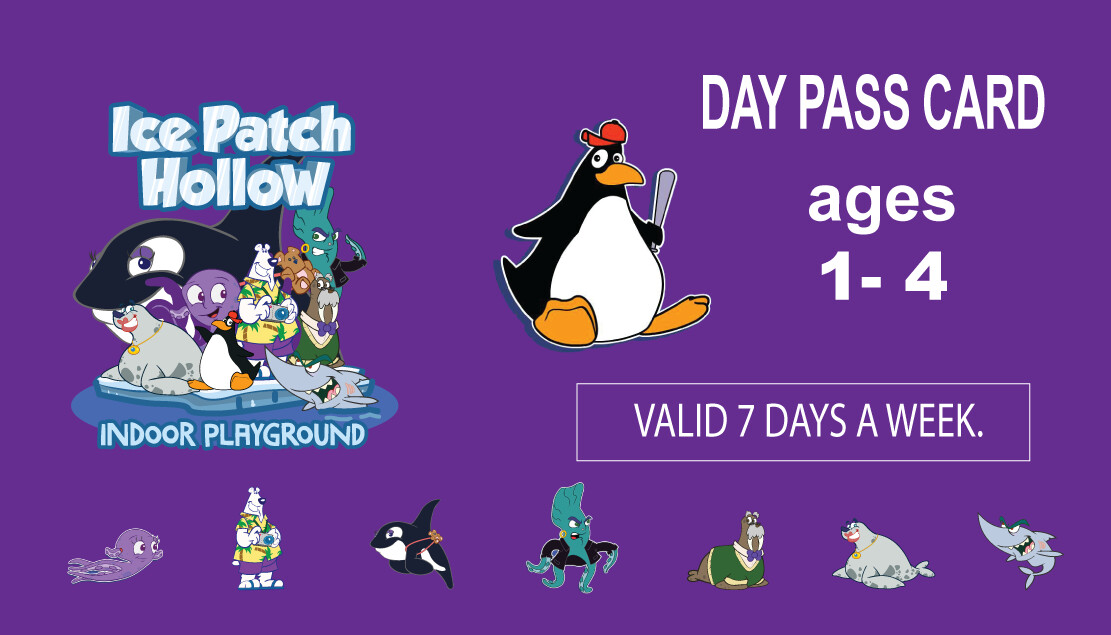 7 Day Pass 10 visits  (Ages 1-4)