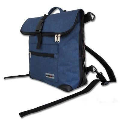 Gepäckträgertasche Radl-Ivy, die Kleine, PES/PVC-Plane-blau-schwarz