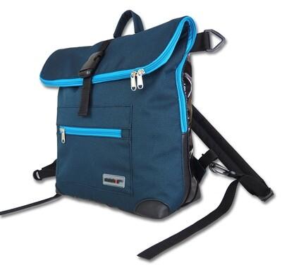 Gepäckträgertasche Radl-Ivy, die Große, PES/PVC-Plane-türkis-schwarz (petrol)