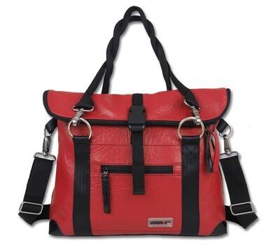 Gepäckträgertasche Radl-Iris, KL/PVC-Plane-rot-schwarz