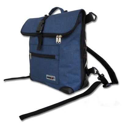 Gepäckträgertasche Radl-Ivy, die Große, PES/PVC-Plane-dunkelblau-schwarz