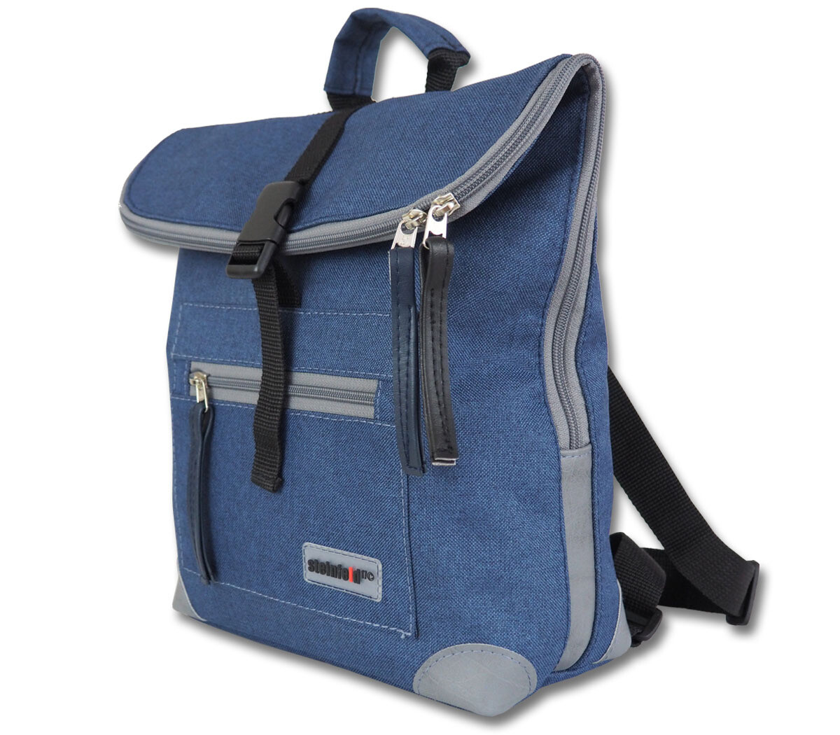 Rucksack Mini-Ivy, PES-dunkelblau-grau