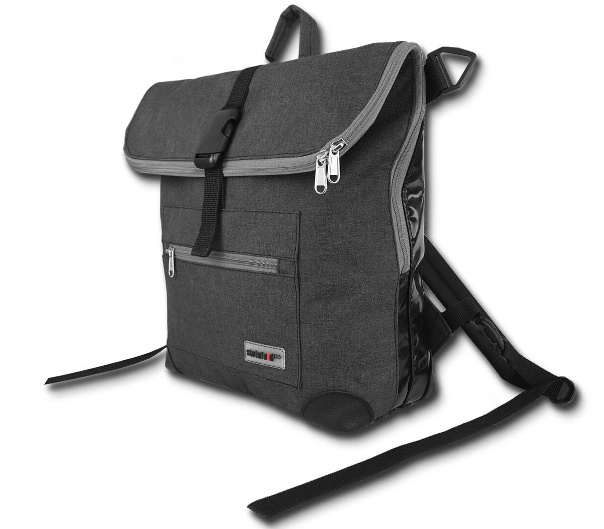 Gepäckträgertasche Radl-Ivy, die Große, PES/PVC-Plane-anthrazit-schwarz