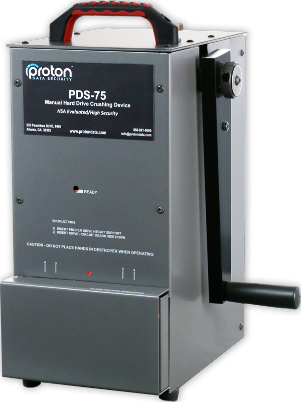 Proton PDS–75 Hard Drive Crusher