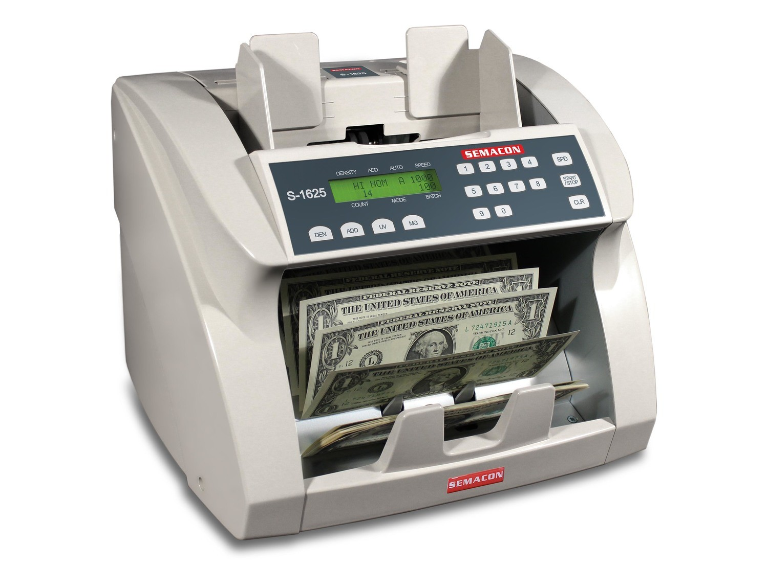 Semacon S-1600V, S-1615V, S-1625V Currency Counter