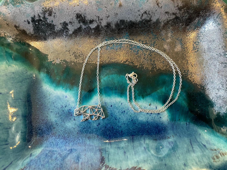 Bear Geo Necklace